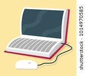 ebook inside a book vector... | Shutterstock .eps vector #1014970585