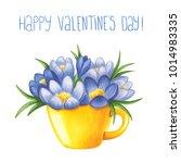 sketch markers crocuses in the... | Shutterstock . vector #1014983335