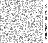 seamless pattern with different ... | Shutterstock .eps vector #1014983422
