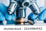 close up shot of microscope... | Shutterstock . vector #1014984952