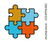 puzzles pieces icon | Shutterstock .eps vector #1014996382