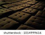 black leather stool stand in...   Shutterstock . vector #1014999616