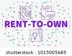 conceptual business... | Shutterstock . vector #1015005685
