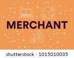 conceptual business... | Shutterstock . vector #1015010035
