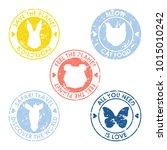 handmade stamp collection.... | Shutterstock .eps vector #1015010242