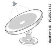 satellite plate on white...   Shutterstock .eps vector #1015013662