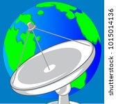 satellite dish for transceiving ...   Shutterstock .eps vector #1015014136
