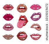 lipstick palette. vector...   Shutterstock .eps vector #1015015672