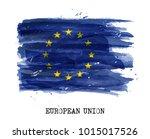 watercolor flag of european... | Shutterstock .eps vector #1015017526