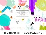 abstract universal art web... | Shutterstock .eps vector #1015022746