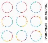vector circle arrows for... | Shutterstock .eps vector #1015023982