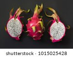 isolated tropical pitaya ... | Shutterstock . vector #1015025428