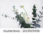 styled photo of ranunculus and... | Shutterstock . vector #1015025458