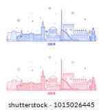 dublin skyline  ireland. this... | Shutterstock .eps vector #1015026445