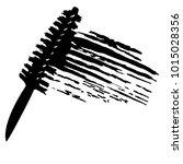 vector make up cosmetic mascara ... | Shutterstock .eps vector #1015028356