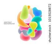 fluid colorful bubbles.... | Shutterstock .eps vector #1015028872