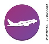 flying plane sign. side view....   Shutterstock .eps vector #1015030585