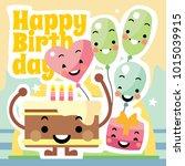 happy birthday background   Shutterstock .eps vector #1015039915