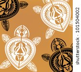 maori   polynesian style turtle ...   Shutterstock . vector #101504002