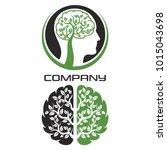 Modern Brain Tree Logo