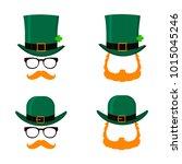 set of saint patrick's day... | Shutterstock .eps vector #1015045246