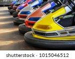 autodrome in the amusement park | Shutterstock . vector #1015046512