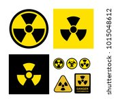 set of radioactive... | Shutterstock .eps vector #1015048612
