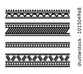 maori   polynesian style tattoo ... | Shutterstock . vector #101504968