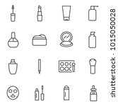 cosmetic icons set. cosmetology ... | Shutterstock .eps vector #1015050028