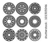 maori   polynesian style tattoo   Shutterstock . vector #101505046