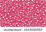 heart icons vector pattern... | Shutterstock .eps vector #1015054552