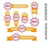 spring sale badge  label   Shutterstock .eps vector #1015056928