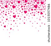 heart fall vector background.... | Shutterstock .eps vector #1015057486