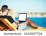 businessman working with... | Shutterstock . vector #1015057726