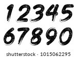 set of grunge numbers.vector... | Shutterstock .eps vector #1015062295