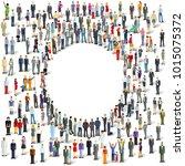 group of people  crowd... | Shutterstock . vector #1015075372