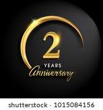 2 years anniversary celebration.... | Shutterstock .eps vector #1015084156