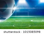 abstract soccer background  ... | Shutterstock . vector #1015085098