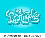 city los angeles  california.... | Shutterstock .eps vector #1015087096