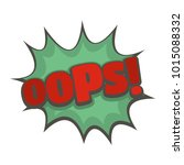 comic boom oops icon. flat... | Shutterstock . vector #1015088332