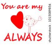 paper heart for valentantine's... | Shutterstock .eps vector #1015089856