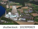 power plant leibstadt at river... | Shutterstock . vector #1015090825