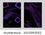 abstract banner template with... | Shutterstock .eps vector #1015092052
