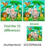 children's illustration visual... | Shutterstock .eps vector #1015096636