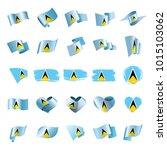 saint lucia flag  vector... | Shutterstock .eps vector #1015103062