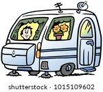cartoon vector illustration of... | Shutterstock .eps vector #1015109602