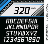 vector font in supercar gauge... | Shutterstock .eps vector #1015109932