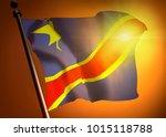 winner waving congo democratic... | Shutterstock . vector #1015118788