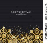 new year and merry christmas... | Shutterstock . vector #1015122676