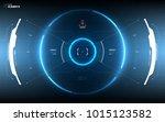sci fi futuristic hud dashboard ... | Shutterstock .eps vector #1015123582